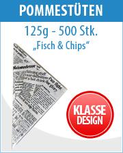 Papierspitztüten Fisch & Chips