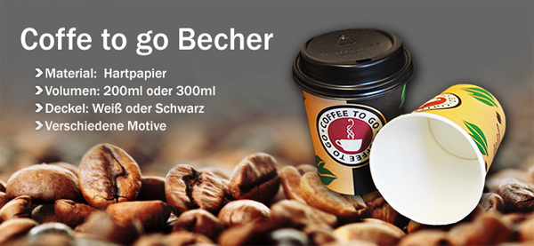 Coffee to go becher mit deckel